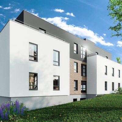 L'Ondine c'est l'investissement idéal au cœur des 3 Frontières : appartements neufs du F2 au F5 en attique dans une résidence intimiste à Saint-Louis Neuweg (68300).