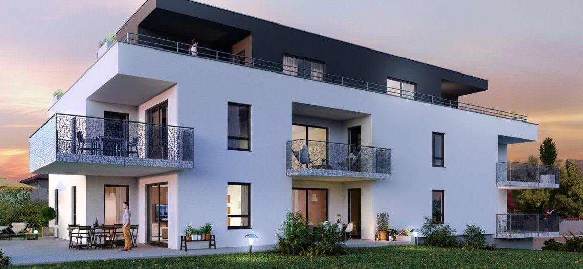 Laissez-vous séduire par L'Ondine, résidence intimiste au cœur du quartier Neuweg-La Chaussée à Saint-Louis (68300).