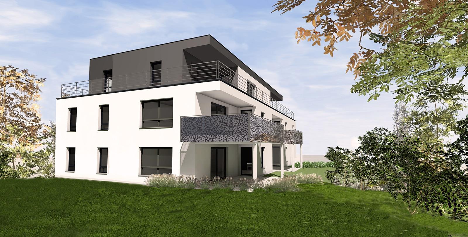 Avec Les Vergers à Bartenheim (68870), profitez d'appartements neufs du F2 au F5 prolongés de terrasses idéalement orientés avec vue sur les espaces verts.