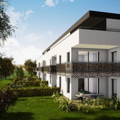 Avec la résidence L'Orée du Bois à Saint-Louis Neuweg (68300), profitez d'appartements neufs du F2 au F5 prolongés de terrasses ou jardins privatifs idéalement orientés avec vue sur les espaces verts.