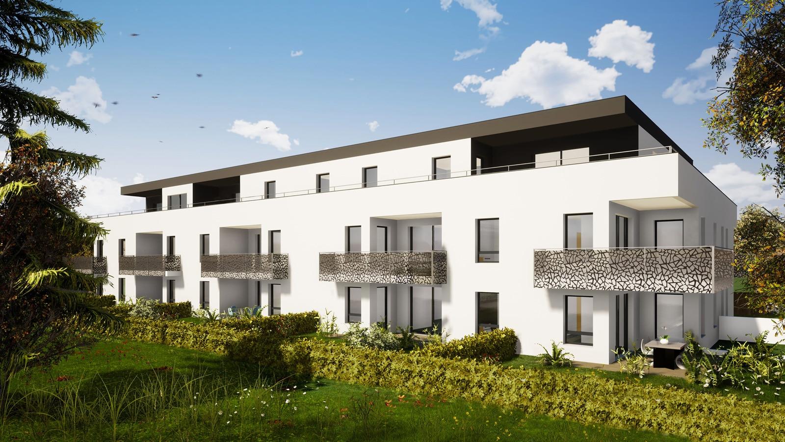 L'Orée du Bois c'est l'investissement idéal au cœur des 3 Frontières : appartements neufs, éligibles loi PINEL, du F2 au F5 en attique dans une résidence intimiste à Saint-Louis Neuweg (68300).